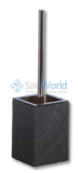 Ёршик для унитаза PETRA чёрный Сланец квадратный - Ёршики для унитаза - Аксессуары для ванной, косметические зеркала, корзины для белья.