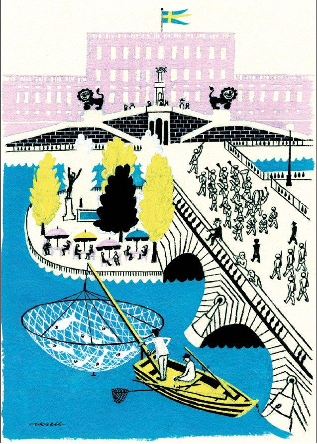 Olle Eksell: Mid Century Modern, Ole Eksell, Modern Graphic Design, Illustration, Art Design, Retro Poster, Olle Eksell, Eksell Print
