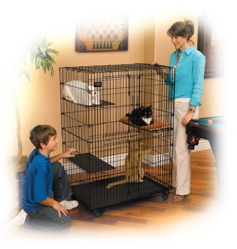 Midwest Homes for Pets 36 inches long by 23.5 inches wide by 50.5 inches high Cat Playpen