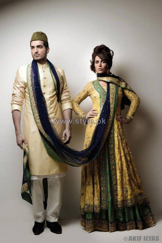 Nida Azwer Wedding Dresses 2014 For Men and Women