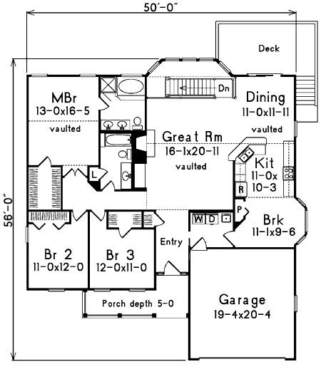Plan 5733ha Affordable Atrium Ranch Ranch House Plans
