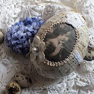 ♥ Shabby - Osterei aus vintage Schätzen ♥