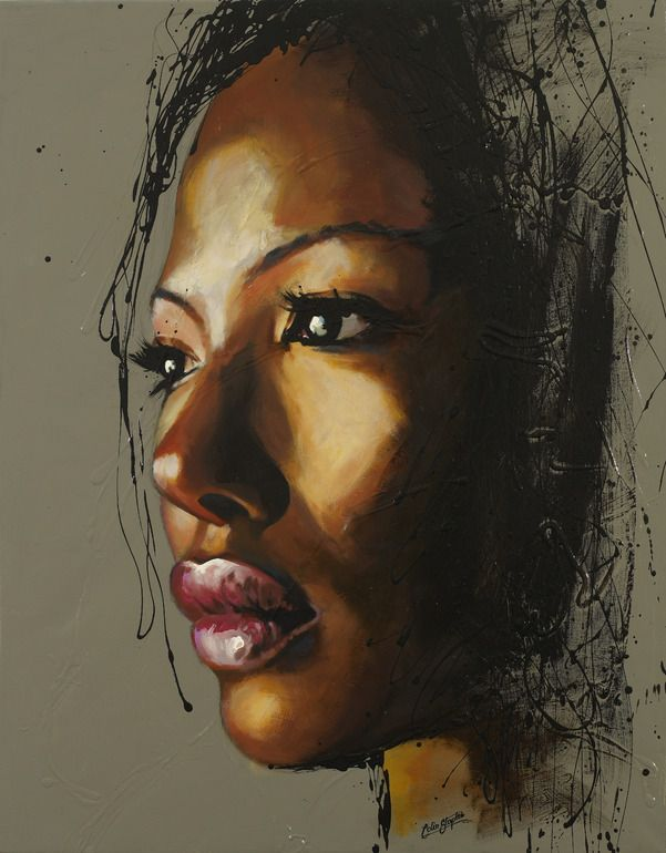 """Saatchi Online Artist: Colin Staples Life Art; Acrylic Painting """"Face of Africa"""""""