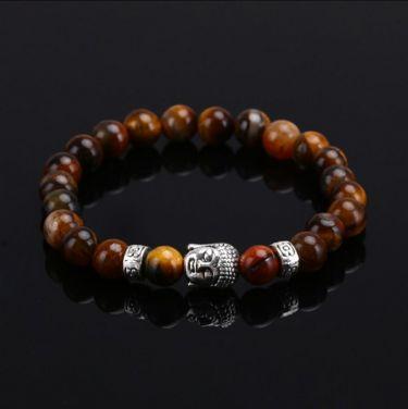 Buddha Charm Tiger Eye Bracelet