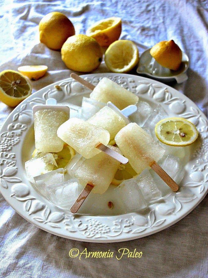Armonia Paleo: Ghiaccioli di Acqua di Cocco e Limone