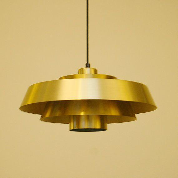 NOVA pendant by Jo Hammerborg - 1960s - Fog & Mørup. Danish vintage design lighting. Iconic brass hanging lamp. Very attractive piece!