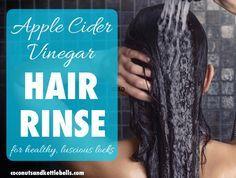 How to Make an Apple Cider Vinegar Hair Rinse - Coconuts & Kettlebells