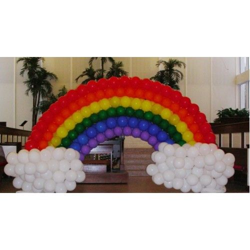 Rainbow Balloon Arch Balloon Arch Pinterest Balloon