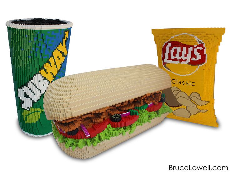 """Last summer I was commissioned by Lay's® to make a sculpture of a Subway® meal consisting of a 6"""" sandwich, a fountain drink and a bag of Lay's potato chips to celebrate the two companies' 50 year partnership and to be unveiled at an event in Las Vegas, NV.  The sandwich measures 15"""" x 36"""" and 20"""" tall. The cup measures 16"""" x 16"""" and 34"""" tall. The bag of chips measures 6"""" x 18"""" and 28"""" tall.  www.BruceLowell.com   Follow Bruce on: Instagram 