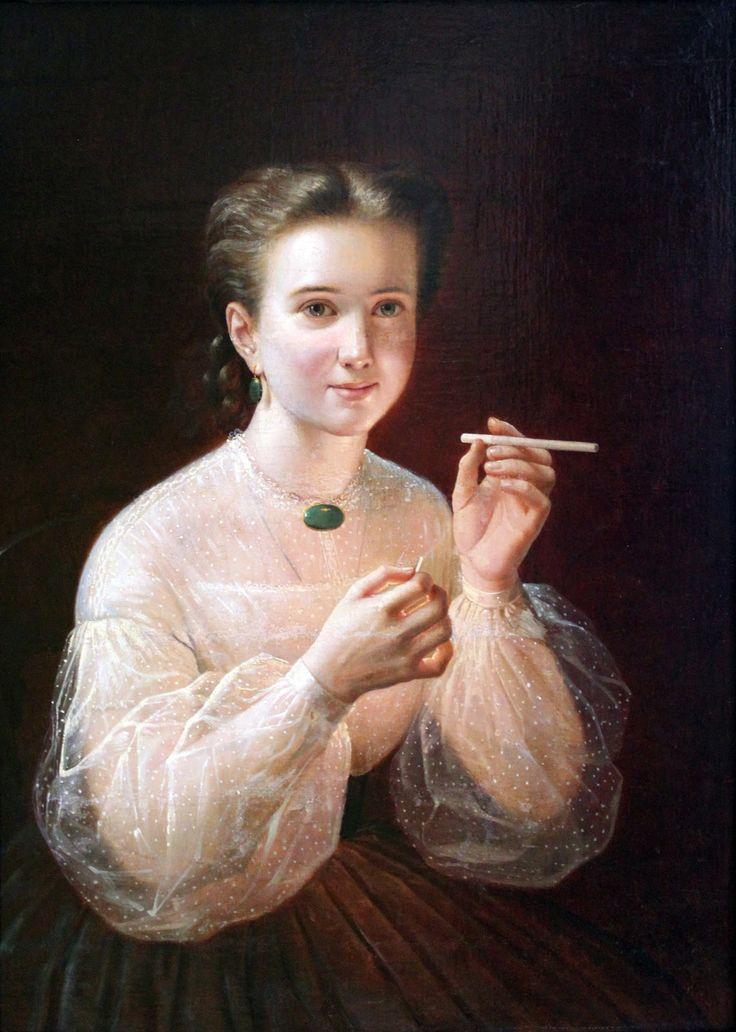 1850 Петр Заболоцкий - Девушка с сигаретой