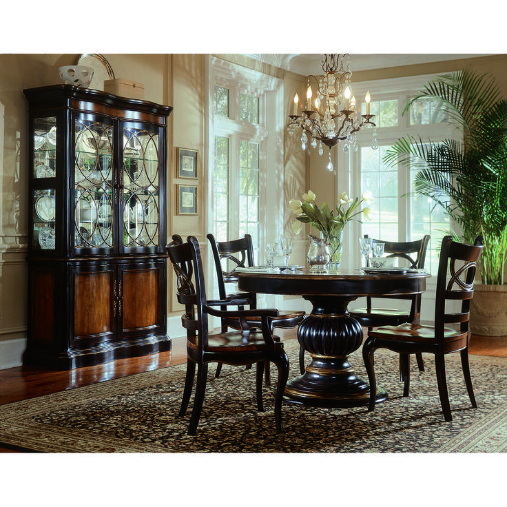 Hooker Furniture Preston Ridge Pedestal Dining Table In