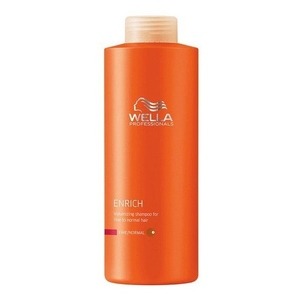 Wella Professionals Enrich Fine Shampoo (1000ml) (£29) ❤ liked on Polyvore featuring beauty products, haircare, hair shampoo, wella hair shampoo, wella hair care and wella