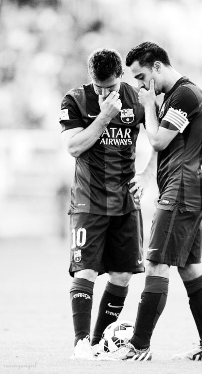 Lionel Messi & Xavi Hernandez