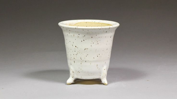 """Japanese Style 4.25"""" Orchid Pot with Feet for Neofinetia Falcata Orchids and Others for Sale by Ashley Keller"""