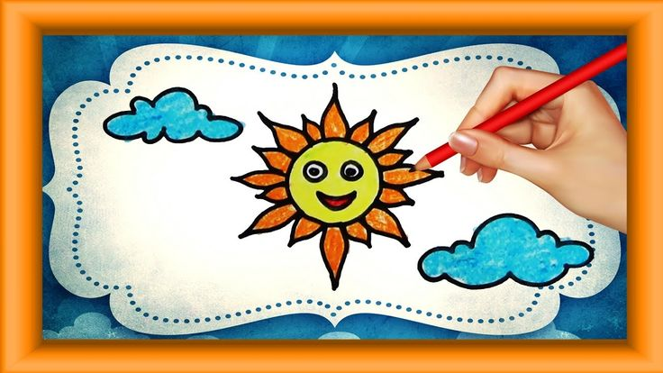 Step by Step how to Draw cartoon SUN for kids | Simple Coloring pages |P...