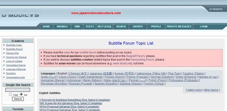 Subtitle Jepang Untuk Film, Anime, Movie, dan Drama Disini Tempatnya [日本字幕] | Japanindo Cute Culture