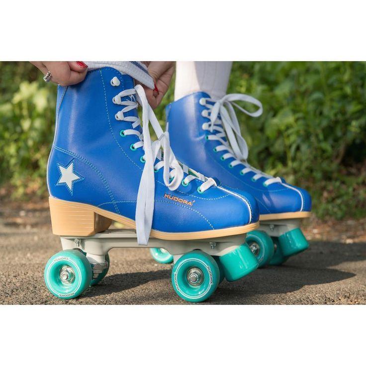 Rollschuhe Roller Disco blaugrün Gr. 42 | Hudora 13198 | Discoroller Quad Skates in Spielzeug, Spielzeug für draußen, Inliner, Rollschuhe & Boards | eBay!