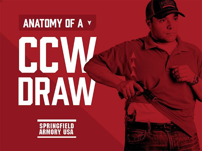 Draw your concealed carry gun like a pro with the help of Springfield Armory's free e-book, Anatomy of a CCW Draw.