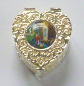 Heart Silver Rosary Box.