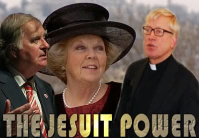 The Dutch Royal family are dominated by the Jesuit Order. Knight of Malta Prince Bernard was a big founder of the European Union and he initiated his daughter Queen Beatrix into the Knights of Malta. You already know that Beatrix is one of the main members of the Bilderberg Club. She is mastered by two Jesuit soldiers named Eduard Kimman SJ and Huub Oosterhuis SJ the latter takes her confessions (sound Protestant to you? More like crypto-Catholic.)