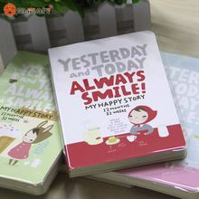 1 Piece Cute Diary Red Hat Girl 4 Types Notebook Journal Record Stationery Office School Supplies(China (Mainland))
