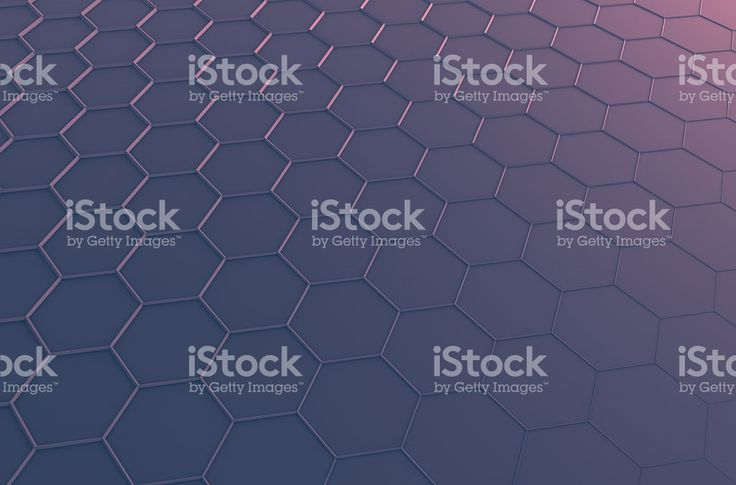 Abstract 3D Rendering of Surface with Hexagons royalty-free stock photo