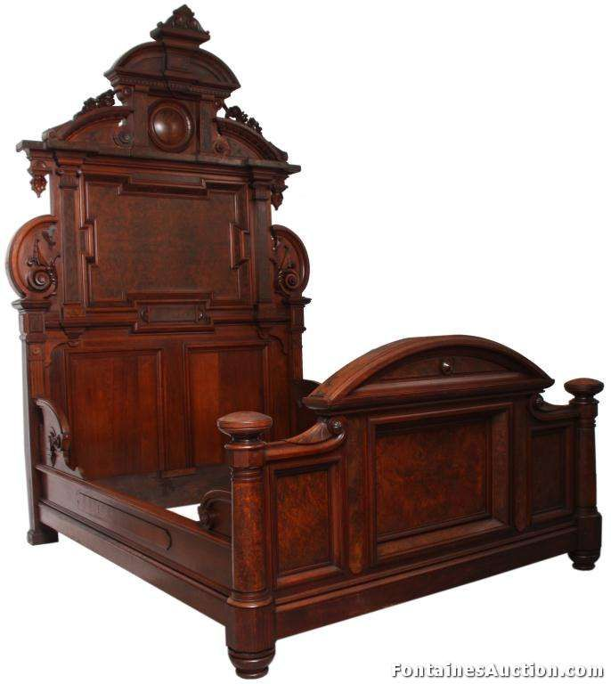 Auction Saturday, June 15th 2013 – 3 Pc Thomas Brooks Bed Set · Antique BedsAntique  FurnitureBed ... - 24 Best Furniture - Thomas Brooks Images On Pinterest Brooklyn