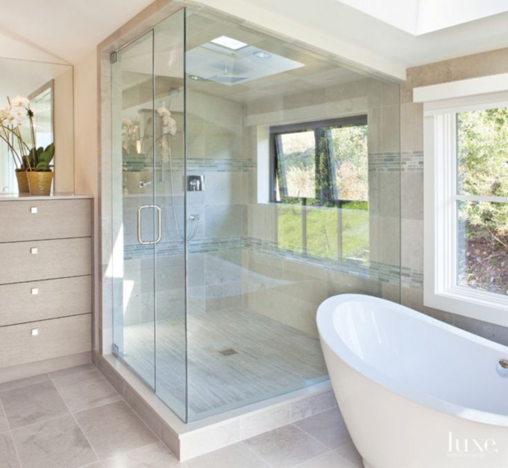 17 Best Images About Corner Shower Ideas On Pinterest Traditional Bathroom Skylights And