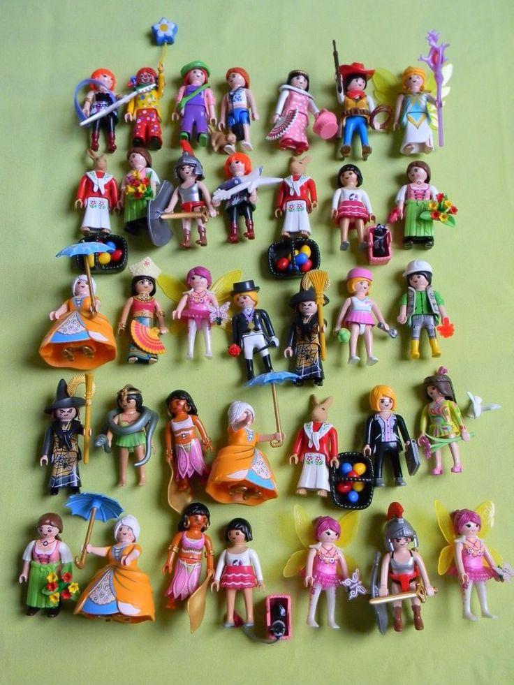 dtails sur playmobil lot de 35 figurines personnages fille et leurs accessoires