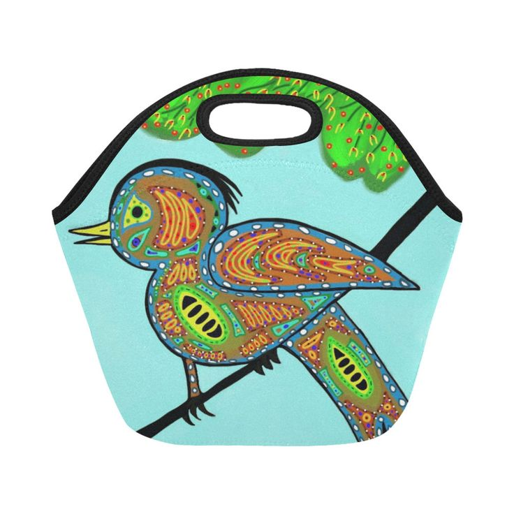 Bird lunch bag/kids lunch bag/girls lunch bag/insulated lunch bag/waterproof lunch bag/lunch tote for girls/blue lunch bag by AGirlFromTribeca on Etsy
