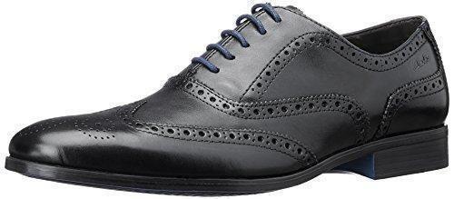 Oferta: 99.9€ Dto: -37%. Comprar Ofertas de Clarks Banfield Limit - zapatos con cordones de cuero hombre, color negro, talla 45 barato. ¡Mira las ofertas!