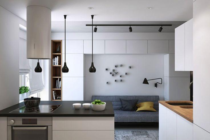 08-sala-relogio-moderno-design-criativo. Snigeri é uma residência projetada pela Geometrium