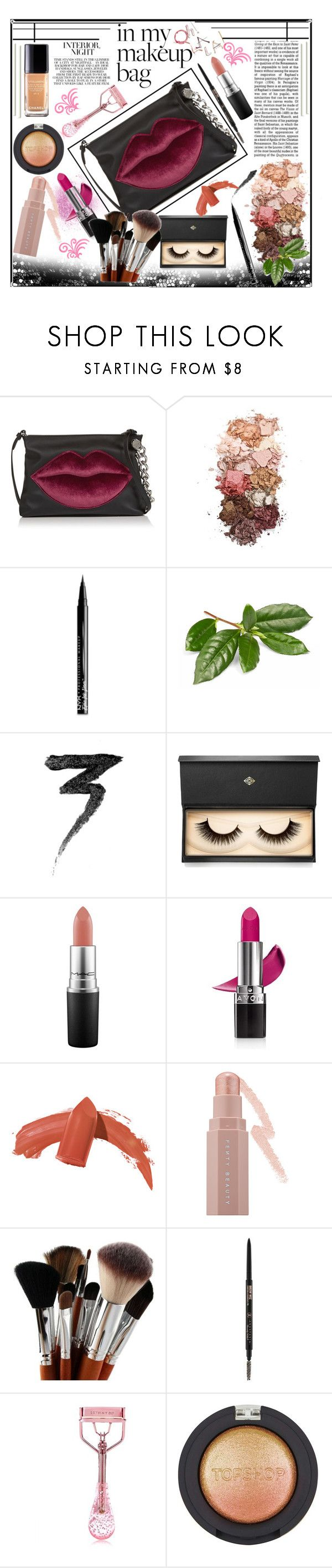 """""""In My Makeup Bag"""" by jeneric2015 ❤ liked on Polyvore featuring beauty, Kendall + Kylie, Sigma, NYX, Manic Panic NYC, Lash Star Beauty, MAC Cosmetics, Avon, Puma and Anastasia Beverly Hills"""