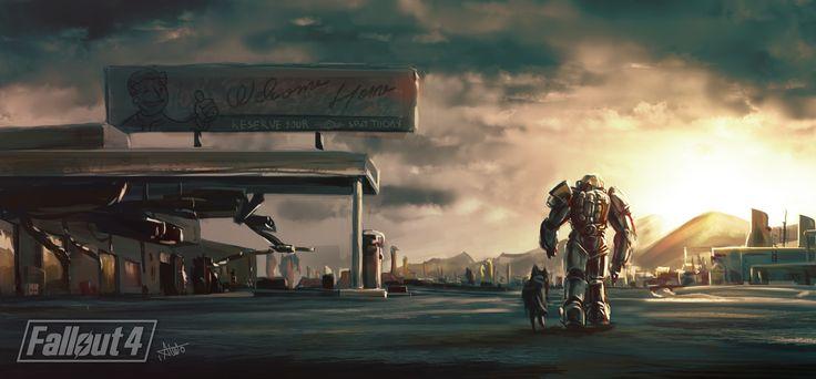 Fallout 4, Ibrahim Abdo on ArtStation at https://www.artstation.com/artwork/bBBXd