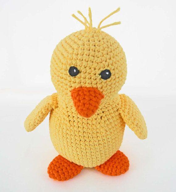 Crochet Duck Pattern Amigurumi : Crochet Toy Pattern: Amigurumi Duck, Crochet Baby Chick ...