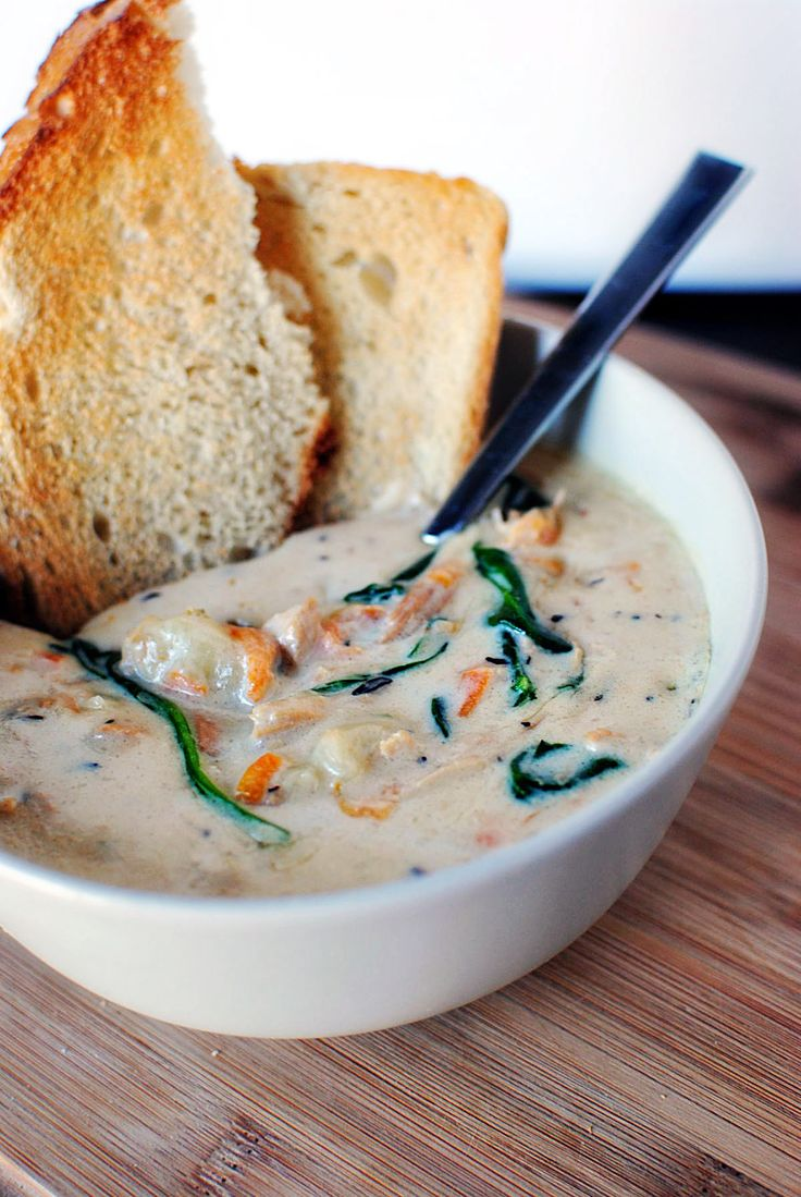 chicken gnocchi soup. pretty simple and can make in crock pot. olive garden copycat.