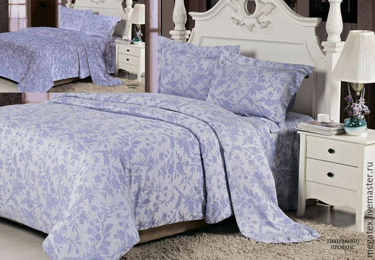 Купить сатин-жаккард  люкс Прованс (лавандовый, тенсель/ хлопок) - хлопок, ткани для постельного, для постельного