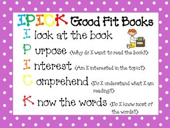 This free download includes signs to use for the Daily 5 in your polka dot themed classroom! Included are posters for IPICK good fit books and the ...