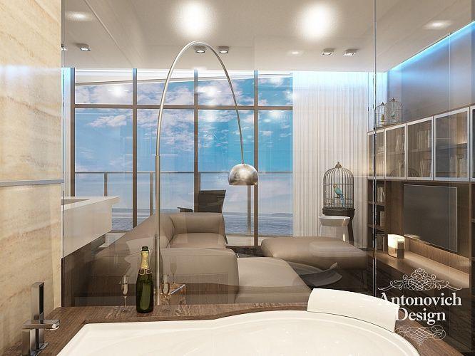 Прекрасный акцент в освещении апартаментов гостиной – авторские светильники стального цвета.