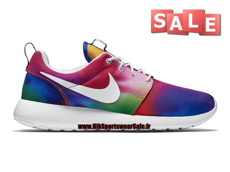 Nike Wmns Roshe One Print - Chaussures Nike Running Pas Cher Pour Femme/Enfant  Violet basket-ball/Blanc/Cramoisi Total