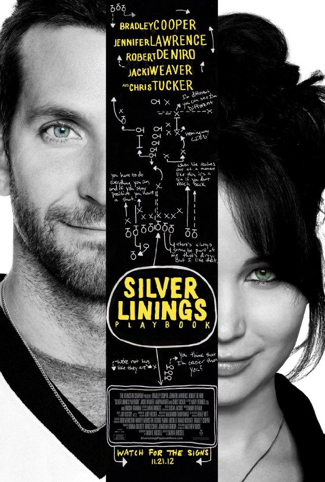 Silver Linings Playbook - After a stint in a mental institution, former teacher Pat Solitano moves back in with his parents and tries to reconcile with his ex-wife. Things get more challenging when Pat meets Tiffany, a mysterious girl with problems of her own.