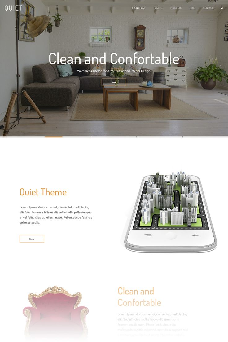 Quiet - Interior Design WordPress Theme Big Screenshot