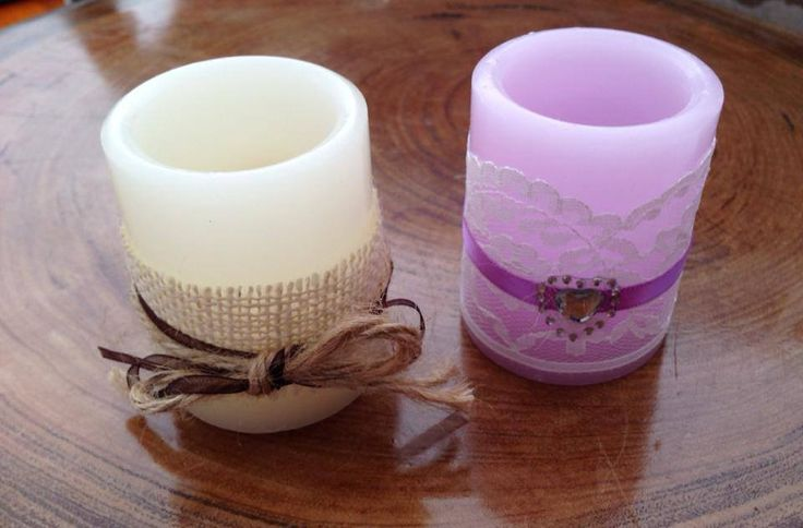 Customised LED candles - any style, colour #handmade