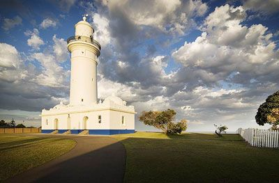 Australia's oldest lighthouse-  Macquarie Lighthouse stands as a beacon to Sydney Harbour.  Built in 1818  designed by convict architect Francis Greenway.