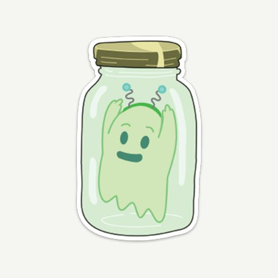 Rick and Morty Ghost in a Jar Die-Cut Vinyl Sticker