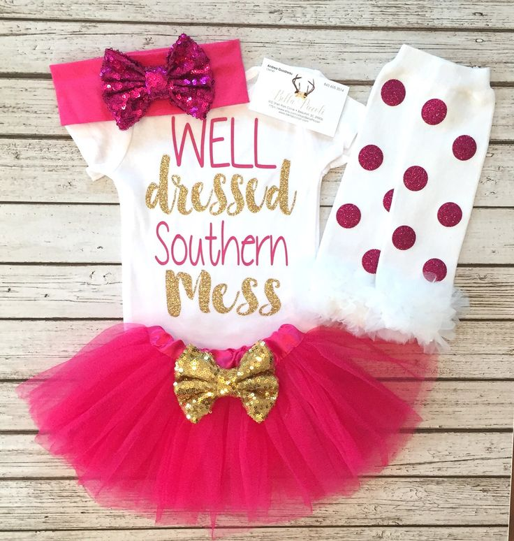 Well Dressed Southern Mess Bodysuit Well Dressed Souther Mess Baby Girls Shirts - BellaPiccoli