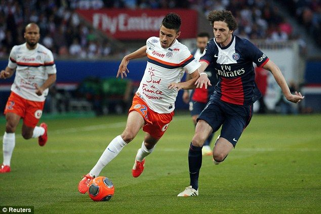 Manchester United have joined a host of clubs in chasing PSG youngster Adrien Rabiot (right)