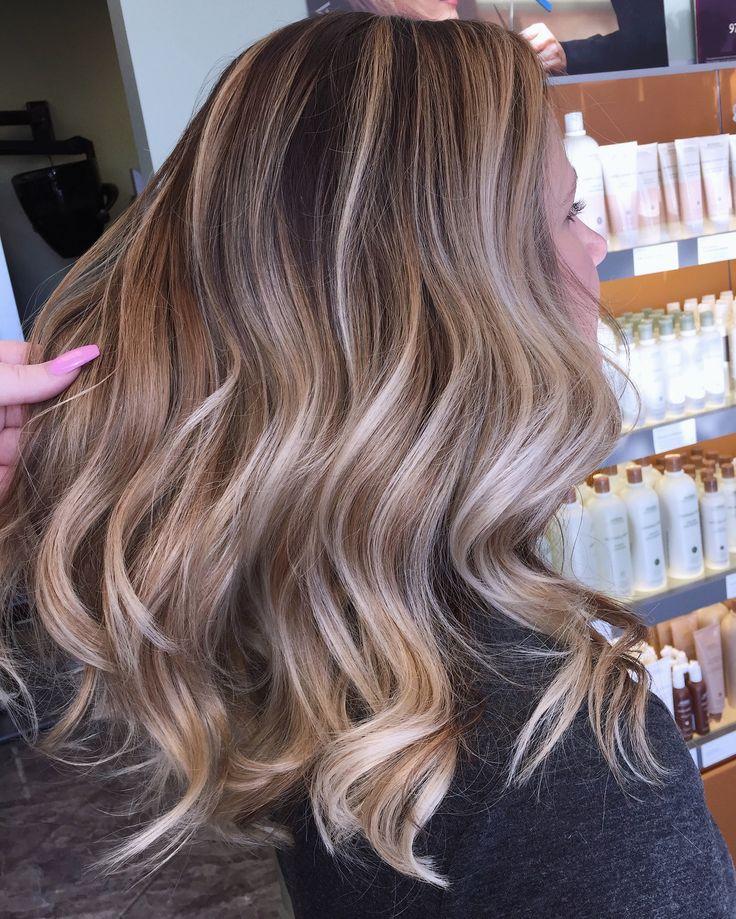 Beige blonde balayage #hairbyashcha #balayage