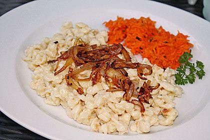 Cremige Käsespätzle, mit Röstzwiebeln 2