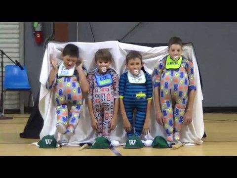 5th Grade Boys Dress In Onesies, When They Raise Their Heads The Audience Burst Out Laughing. - Happiest